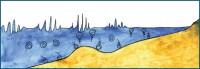 Общая схема береговой зоны под воздействием нерегулярных волн