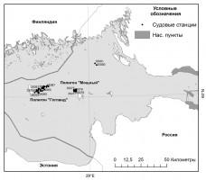 Рис.3 – Станции в Финском заливе Балтийского моря, 35 рейс НИС «Академик Нико-лай Страхов»