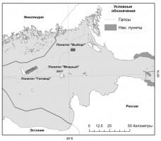 Рис.4 – Галсы геоакустического профилирования в Финском заливе Балтийского моря, 35 рейс НИС «Академик Николай Страхов»