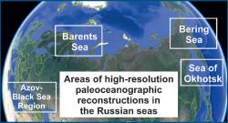 Области палеоокеанологических реконструкцийв морях России